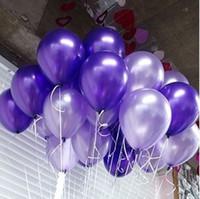düğün rengi için balonlar toptan satış-200 adet saf inci renk balonlar lateks düğün dekorasyon balon için parti, otel, doğum günü, karnaval freeshipping