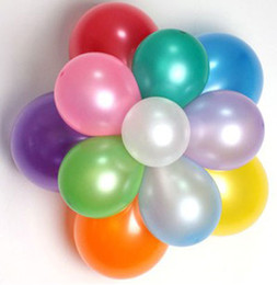 Pearl Ballons Canada - 200 pcs pure pearl color ballons latex wedding decoration balloon for party,hotel,birthday,carnival free shipping