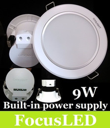 Wholesale Downlight Inch - 2014 Newest-CREE-9W LED Downlight 4.5 inch Recessed Ceiling Light Warm Cool White+Built-in Power Supply +Fixture Cabinet Lamp CE ROHS SAA UL