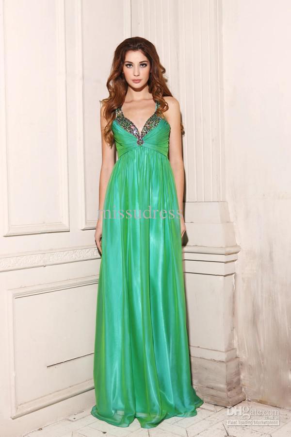 Fashionable Rhinestone Pageant Dress Ball Gown Empire Waist Prom Dress Evening Dresses