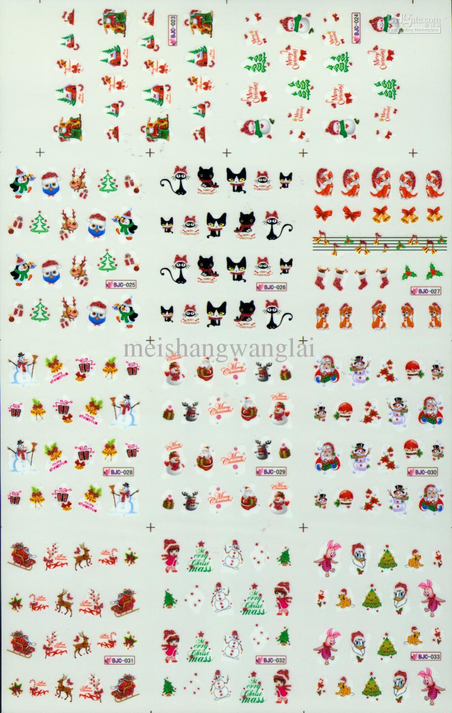 3D Nail Art Dekoration Weihnachten Nail Art Nail Wasser Decals / Weihnachten Nail Sticker Dekor Nail Wasser Sticker Nail Dekoration