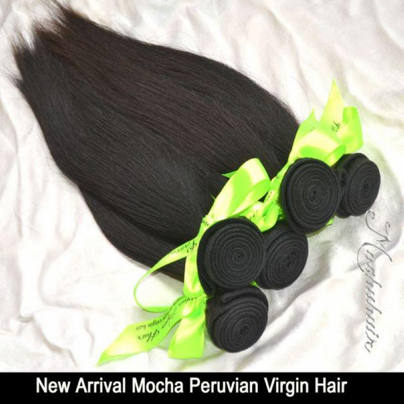 6A Işlenmemiş Kraliçe saç Ürünleri 5 veya Mix 5 adet Düz Perulu Bakire Saç Uzantıları Toptan Doğal Renk