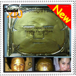 Wholesale Ship Control Pc - 2012 Brand New Gold Crystal Collagen Facial Mask Face Masks 10 Pcs  Lot Free Shipping
