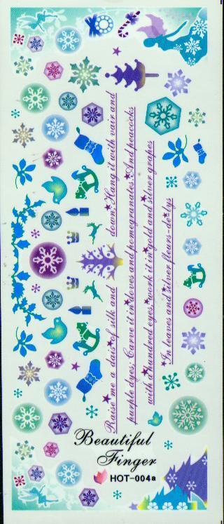 Kunst-Dekoration der Nagel-3D neue 2013 Nagel-Wasser-Abziehbild-Dekor-Nagel-Aufkleber-Nagel-Dekorations-Aufkleber des Nagel-/ auf Nagel