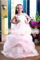Christmas Pink Organza Flowers Wedding Flower Girls' Dresses...