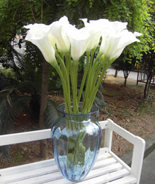 Wholesale Real Touch Flowers Calla - Real Touch Callas 10pcs Lot 60cm Real Feeling PU Callas calla lily Flowers Large Calla Lily for Wedding Bouquet Artificial Decorative Flower