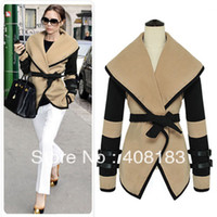 Wholesale Military Victorial Clothes Cape - Wholesale - 2013 New Hot Fashion Cozy Women Military Victorial Clothes Cape Outwear Big Turn Down Winter Coat