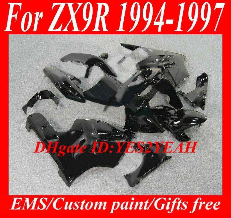 KAWASAKI Ninja ZX9R 94 95 96 97 Kaporta ZX 9R 1994 1996 1997 için siyah kaporta kiti