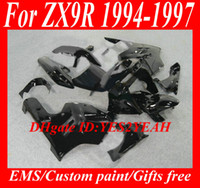 Wholesale Ninja Kawasaki Fairings Zx9r 1994 - Fairing kit for KAWASAKI Ninja ZX9R 94 95 96 97 ZX 9R 1994 1996 1997 gloss black Fairings set + 7 gifts KG22