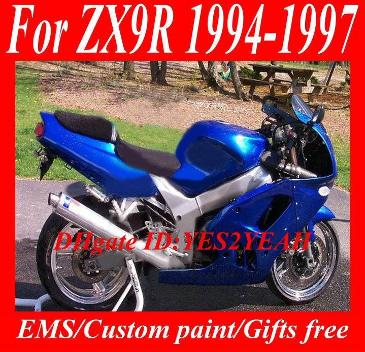 Kit de carenado de motocicleta para KAWASAKI Ninja ZX9R 94 95 96 97 ZX 9R Carrocería ZX-9R 9R 1994 de carenados + regalos KG29