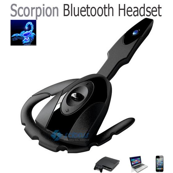 전갈 - 멋진 스타일의 블루투스 헤드셋 PS3 태블릿 PC 용 무선 게임 이어폰 스마트 휴대 전화 노트북