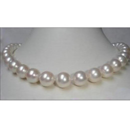 """Wholesale 18 Mm White Pearl - REAL SOUTH SEA AAA+ 10-11 MM AKOYA WHITE PEARL NECKLACE 18"""" 14k"""