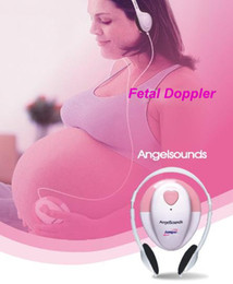 Wholesale FREE SHIP ANGELSOUNDS FETAL DOPPLER HOME USE ANGEL SOUND HEART RATE PRENATAL BABY MONITOR JPD S2