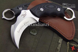 Карманный нож лучшее качество онлайн-Лучшее качество edtion Скорпион Коготь керамбит карманный нож фиксированным лезвием нож боевой кемпинг нож ножи AUS-8A лезвие 59HRC с кожей