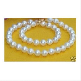 Wholesale pearl akoya - Gorgeous akoya AAA 9-10mm white pearl necklace 14K 18""