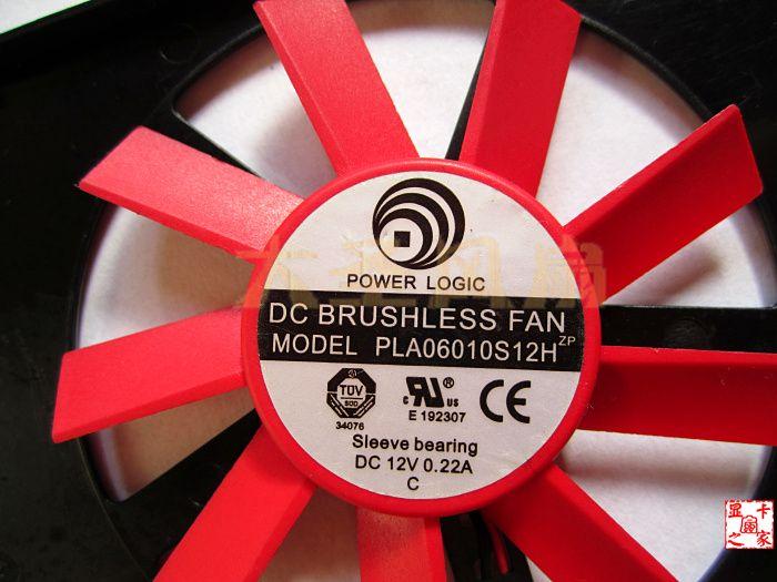 Original AMD FirePro V4900 W600 ATI V4900 W600 profesional PLA06010S12H 12V 0.22A ventilador de la tarjeta gráfica
