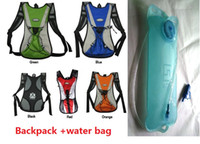 Wholesale Road Bike Bags - NEW A+ Cycling Bicycle Bike MTB Road Cycle Sport Water Bag Hiking Hydration Backpack+water bags 1set