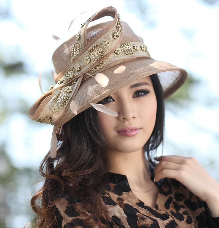 Women Sinamay Hat Church Hat Fashion Dress Hat Handmade Ladies ...