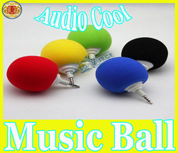 Wholesale Mp4 Free Music - 2013 NEWEST Mini Music Sponge Ball Speaker Sponge+ABS Mini USB Travel Speaker for MP3 MP4 Cell Phone Notebook Free Shipping