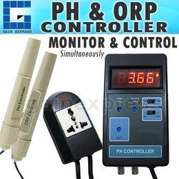 Wholesale Fishing Controller - PH-203 Digital 2-in-1 pH ORP mV CO2 Controller Meter Aquarium Fish Tank 0.00~14.00PH Range + Switched Socket 110V   220V