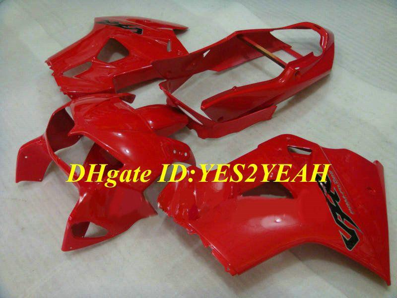Kit de cuerpo de carenado de motocicleta para HONDA VFR800 98 99 00 01 Carrocería VFR800RR 800 1998 1999 2001 Carenados rojos + regalos Hw25