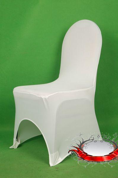¡Venta caliente! Fashion Flowen Elasticity Silla blanca Cubiertas Cubiertas de asiento de la reunión de boda 003398