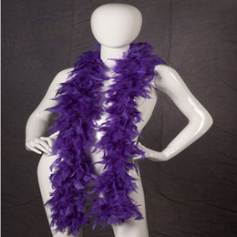 Wholesale Cheap Marabou - Purple Chandelle Feather Boas Cheap Carnival Turkey Feather Boas For Party Decoration Chandelle Marabou Feather Boa Many Colors Availalbe
