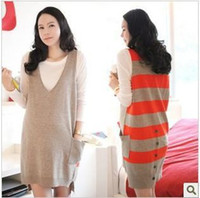 Wholesale Maternity Long Sweater Dress - 2013 new autumn maternity dress pregnant women sweater vest skirt 2pcs set