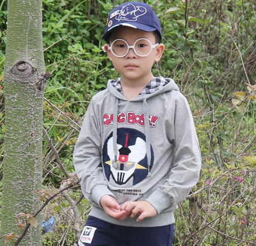 Boys Autumn 2013 new Korean children's clothing baby long-sleeved T -shirt cotton children's health Obi hat autumn paragraph