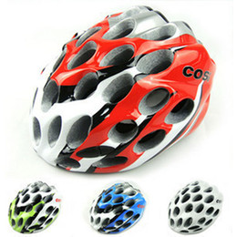 Wholesale Mountain Red Helmet - 39 HOLES Honeycomb Design Unicase Mountain Bicycle Helmet Super-light EPS MTB Helmet Cycling Safety Helmet Free Shipping