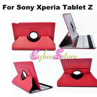 """Wholesale Tablet Xperia Z Leather - New 360 Degree Rotate Leather Case Cover With Stand For Sony Xperia Tablet Z 10.1"""" inch"""