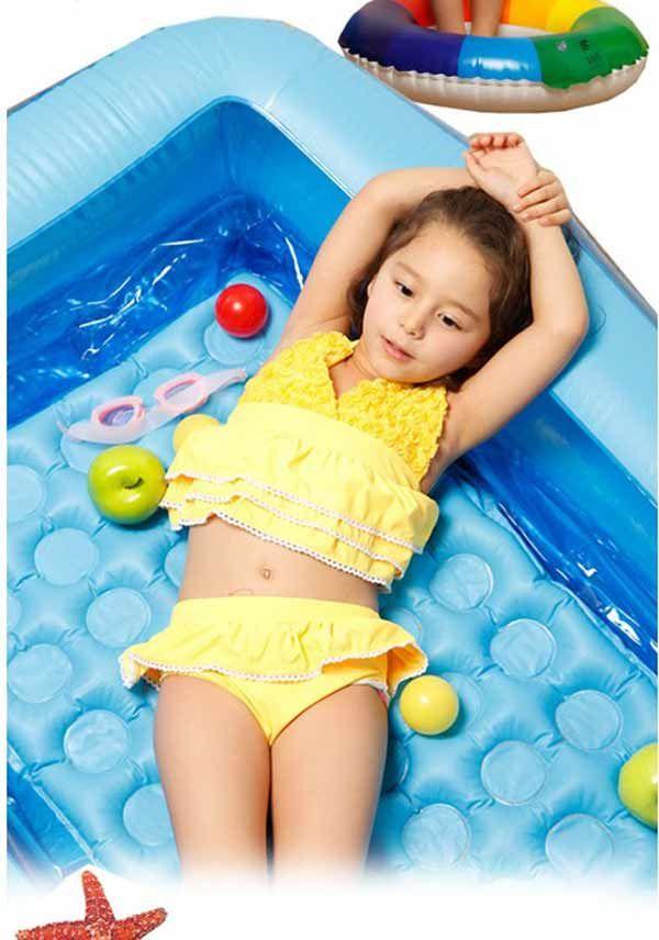 2019 New Girls Swimwear Set Kids Swimsuit Cute Childrens