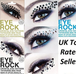 Wholesale Eye Tattoo Crystal - Women Fashion crystal Eye stickers tattoo paster make-up eye shadow sticker #5620