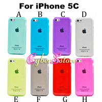 Wholesale Cover Iphone5c - For iPhone 5C Crystal Transparent Clear Soft TPU Gel Case Cover phone cases Silicone for iphone5c