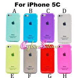 Wholesale Iphone 5c Silicone - For iPhone 5C Crystal Transparent Clear Soft TPU Gel Case Cover phone cases Silicone for iphone5c