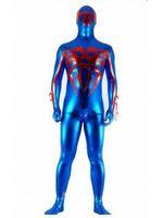 Wholesale pvc zentai - Spider-man 2099 Superhero Costume Halloween Cosplay Party Zentai Suit