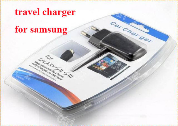 EU/US 5V 1A Travel AC Wall Charger Adapter with micro usb cable For Samsung Galaxy S4 S2 S3 I9500 i9300 i9200 N7100 NOTE 3 retail box