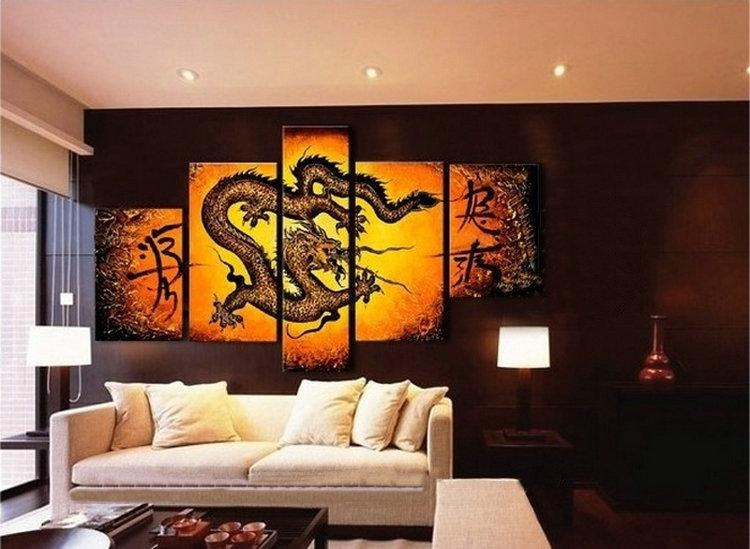 The Modern Wall Art Home Decorative Abstract Animal Oil Paintings. Framed.  100%hand Painted. A Beautiful Artwork!