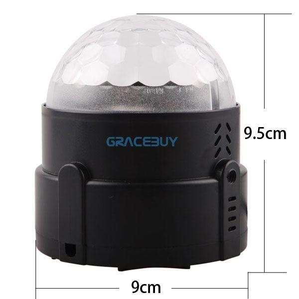 Mini 3W 90-240V Change Voice Control Energy Saving LED Rotating Lamp Stage Light for Home Party Disco DJ Bar US Plug Brand New