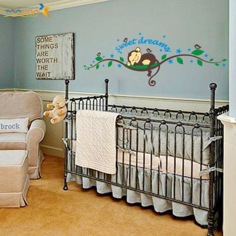 monkey sweet dreams branch decal art diy home decor wall sticker