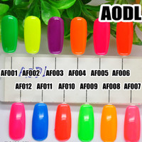 Nouveau Brillant 12 Couleurs Brillantes Briller Soak Off Nail Art UV LED Gel Polonais Fluorescent Chaleur Couleur Curing Lampe Manteau