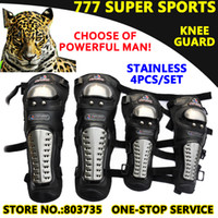 Wholesale Motorcycle Guards - 4pcs Lot Stainless steel Motorcycle Knee&Eblow Protector Sport Knee Guards Motor Protection Racing Guard MB01
