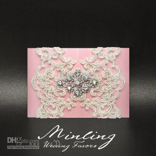 handmade luxurious wedding invitation cardspink wedding favors dioo wedding invitations design wedding invitations melbourne from minling 15378 dhgate - Pink Wedding Invitations
