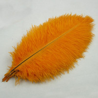 Wholesale natural feather ostrich plumes resale online - Ostrich Feather Plume Orange Color Table Centerpiece Wedding Party Decortion Natural Dyed Ostrich Feather Many Sizes Available