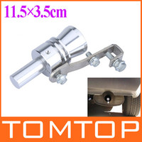Wholesale Bov Whistle - Universal Turbo Sound Whistle Exhaust Pipe Tailpipe Fake BOV Blow-off Valve Simulator Aluminum Size XL 11.5x3.5cm Free Shipping K886