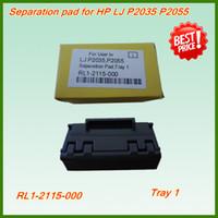 Wholesale Separation Hp - 1PC Fuser gear+1Pair Bushing pressure roller+2set Pick up roller+2set Separation pad=7PCS printer Parts for HP P2035 P2055