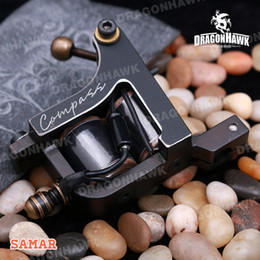 Wholesale tattoo machine coil copper - A+++ Quality 10 Wraps Coils Tattoo Machines Tattoo Gun Tattoo Shader Machine Copper Coils Compass Tattoo Supplies Complete Tattoo Kits