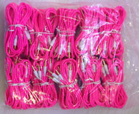 3.5mm à 3.5mm mâle câble audio stéréo tressé pour iPhone iPod PC MP3 MP4 300pcs / lot
