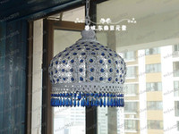 Wholesale Bohemian Lamps - LLFA1944 Free EMS Shipping Exquisite Handmade Bohemian Style Art Crystal Antique Brass Chandeliers Light Lamp