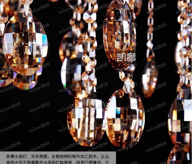 LLFA1947 promoción al por mayor envío gratuito contrajo araña de cristal de 6 Iluminación venta caliente El coñac
